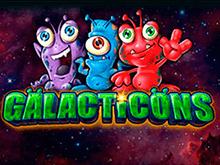 Игровой слот с бонус-выплатами - запуск Galacticons